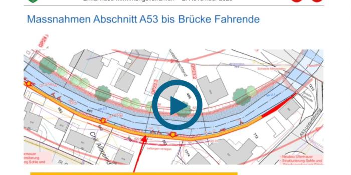 Erklärvideo zum Projekt Aabach Ausbau 2. Etappe