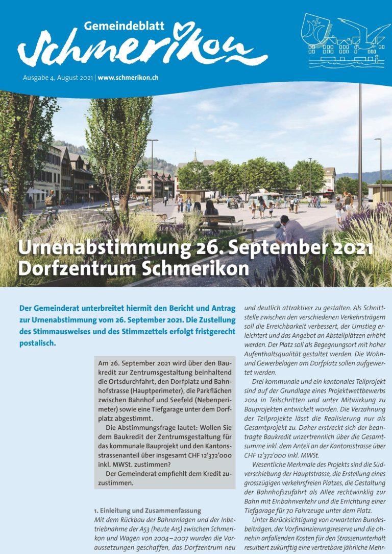Gemeindeblatt Nr. 4/2021